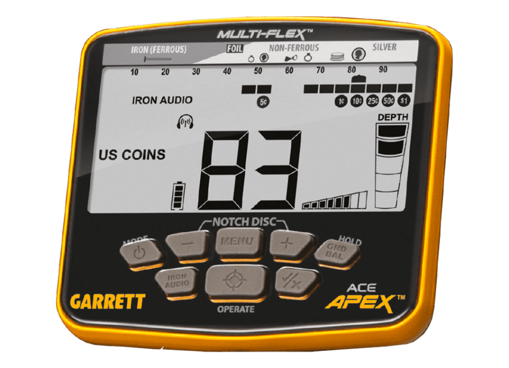 Interface du Garrett Ace APEX